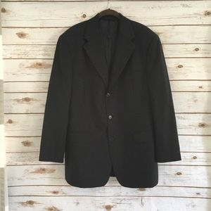 Brooks Brothers 346 Men's Black Wool Blazer 42R